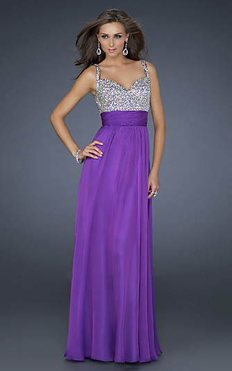 Images of Purple Long Prom Dresses - Reikian