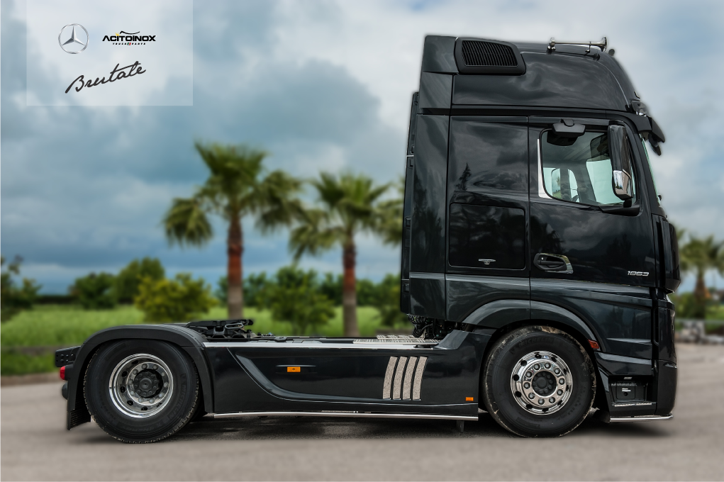 mercedes actros brutale 630 realizzato in partnership con la mercedes italia mercedes actros. Black Bedroom Furniture Sets. Home Design Ideas