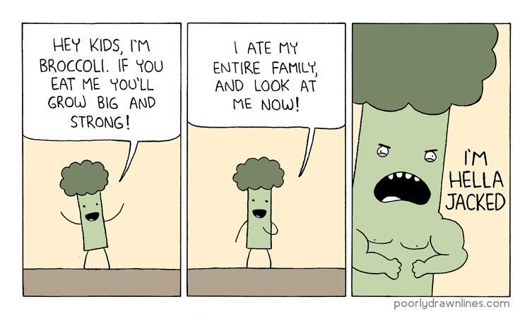 Kids, eat your broccoli.