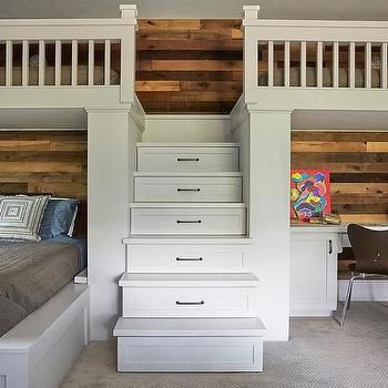 Best Built In Desk With Plank Walls Under Loft Bed Loft Bed 400 x 300