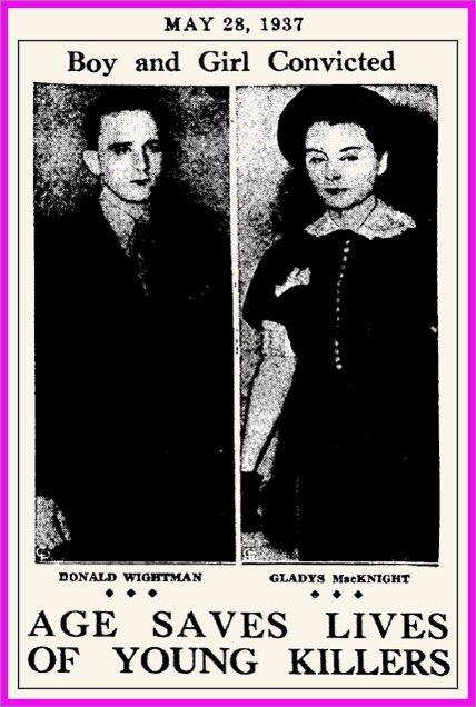 The Unknown History Of Misandry Gladys Macknight Teenage Hatchet Murderess Killed Her Mom 1937 Murderess Teenager Saving Lives