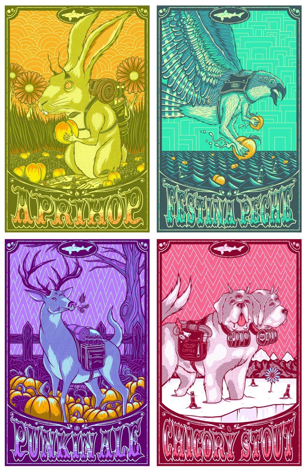 INSIDE THE ROCK POSTER FRAME BLOG: Jim Mazza Dogfish Head 2013 Artist Prints Release