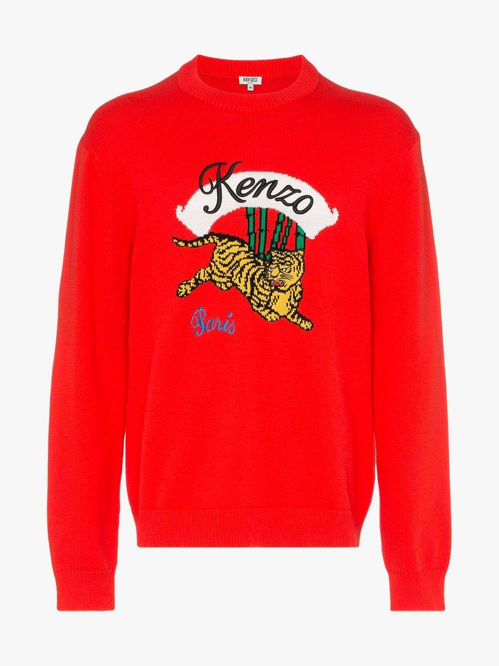 ShopKenzo cotton blend hoodie with