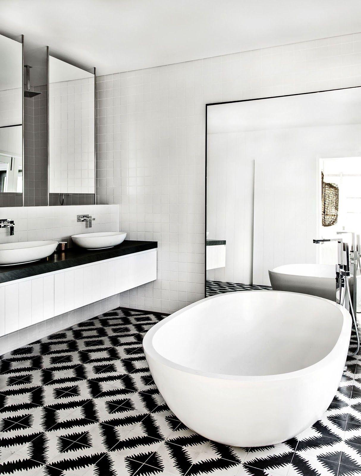 Modern bathroom design ideas | Black and white bathroom designs with ...