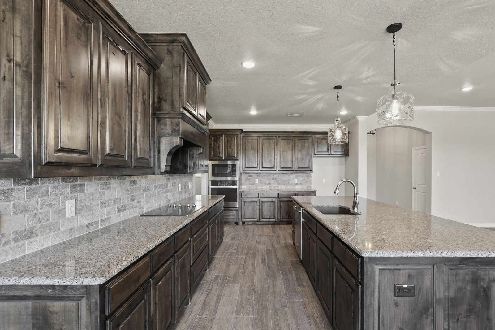 Large Kitchen Design By Doug Parr Boyd Tx Large Kitchen Design Brown Kitchen Cabinets Alder Kitchen Cabinets