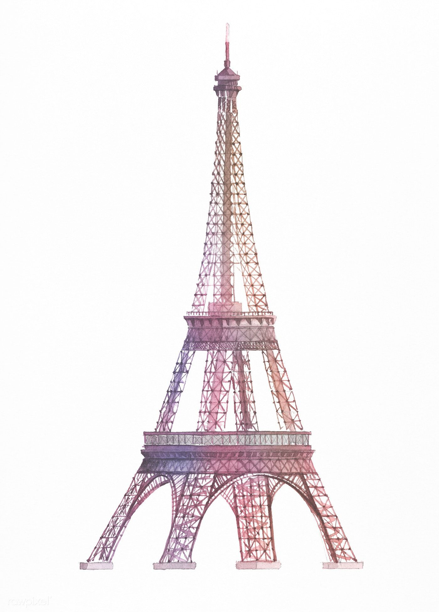 Download Premium Illustration Of The Eiffel Tower Painted By