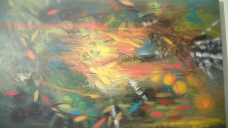 Nacido en el fuego. Óleo sobre lienzo. 200 x 124 cm. 2008 - 2013.