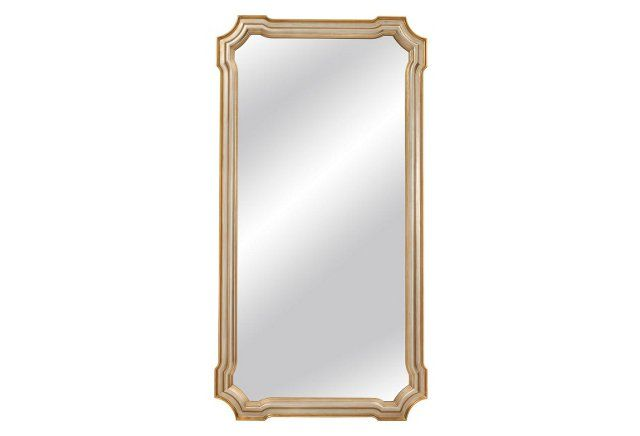Angelica Floor Mirror, Silver Leaf | Humble Abode | Pinterest ...