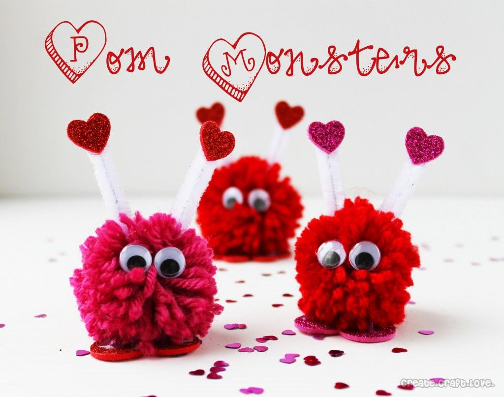 Homemade Valentines For Kids | Monsters