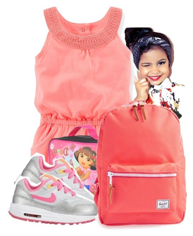 """""""First Day of Pre-School"""" by queenbaddiie on Polyvore featuring NIKE and Herschel Supply Co."""