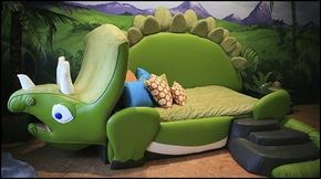 Gaaf dinosaurus kinderbed! | Jongens dinosaurus slaapkamer ...