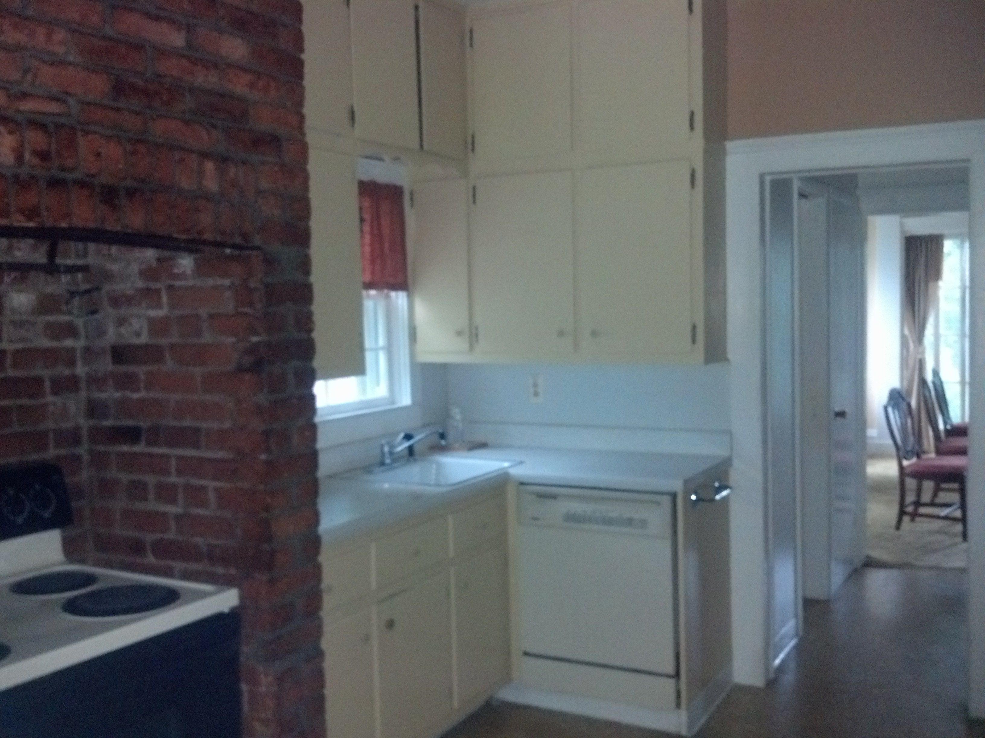 Kitchen. I kepted the 1950s or 60s custom cabinets and painting ...