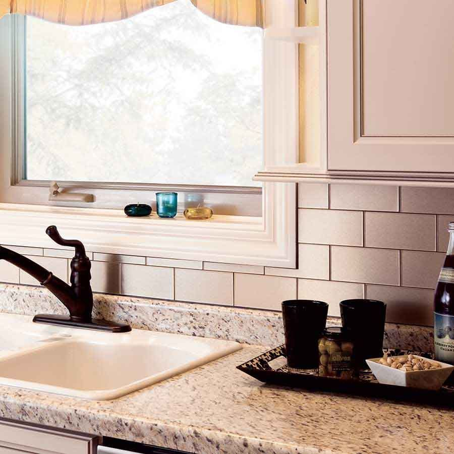 Astounding Peel And Stick Backsplash Walmart For The Kitchen Metal Home Interior And Landscaping Oversignezvosmurscom