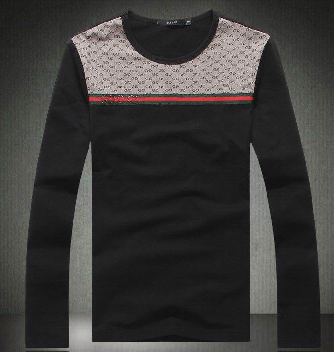 Gucci Men S Long Sleeve Tee Black Www Saleurbanclothing Om Cheap