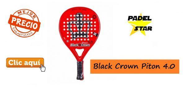 Mejor Pala de Pádel BLACK CROWN Piton 4.0