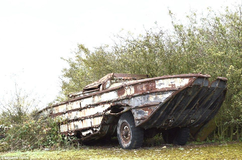 Vehicle graveyard of military vehicles dating back to World War Two ...