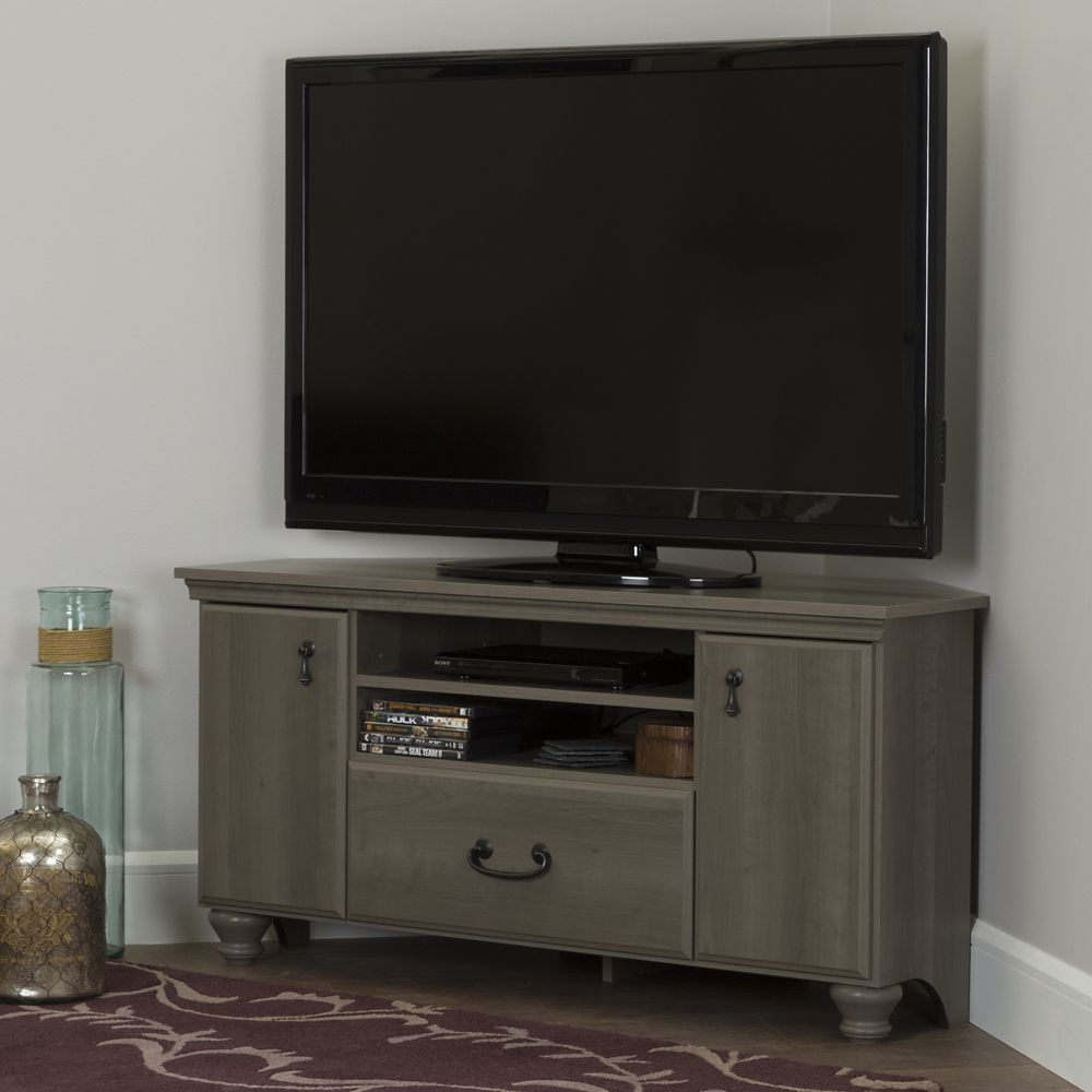 Noble Corner Tv Stand For Tvs Up To 55 Gray Maple Corner Tv