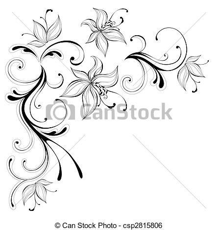 dessins fleurs noir et blanc recherche google dessin pinterest stenciling. Black Bedroom Furniture Sets. Home Design Ideas