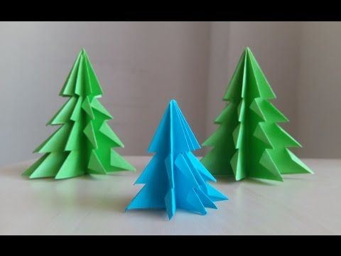 3D Paper Christmas Tree - How to Make a 3D Paper Xmas Tree DIY
