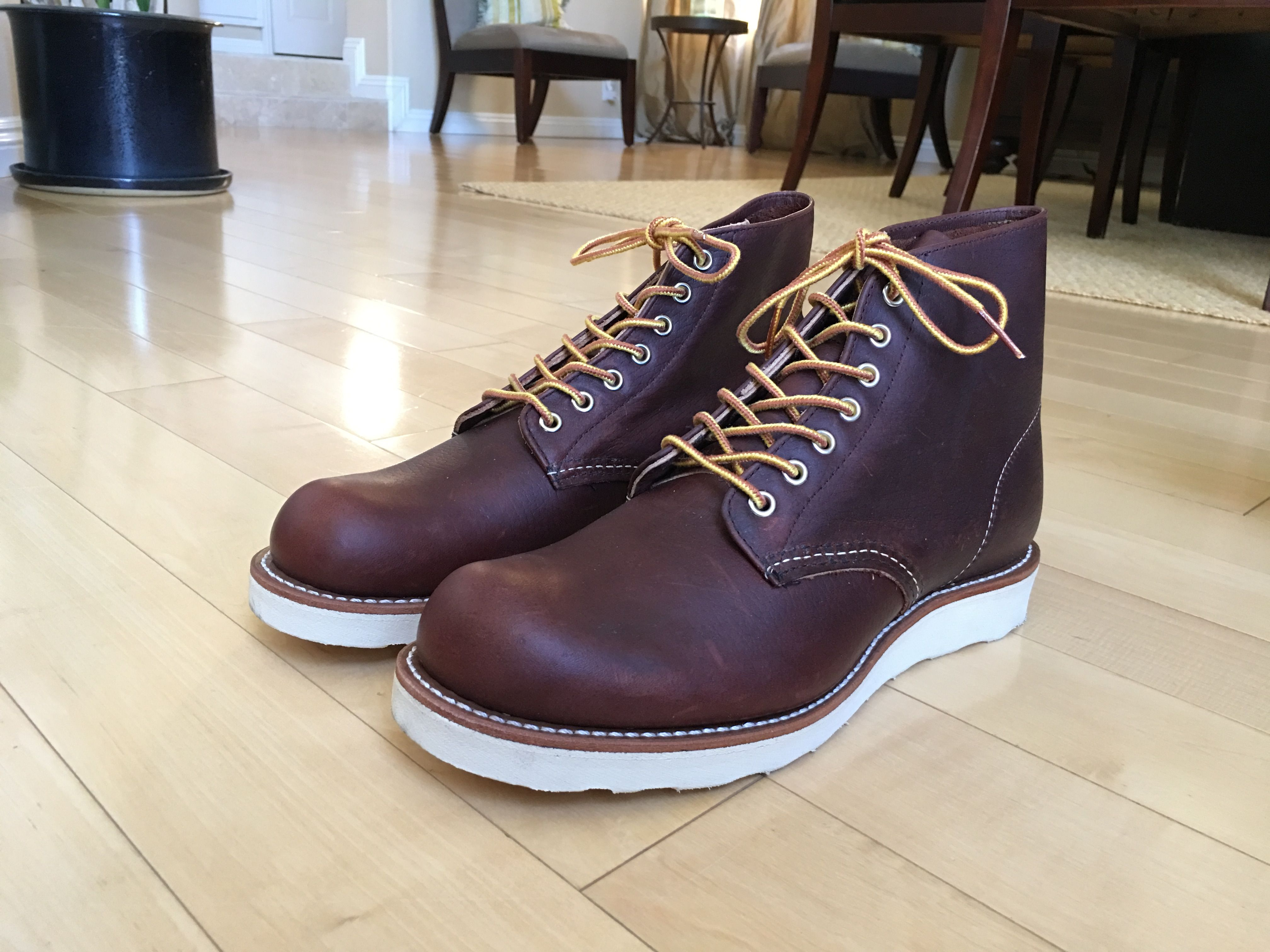 red wing heritage round toe farmer boots redwing8196 briar