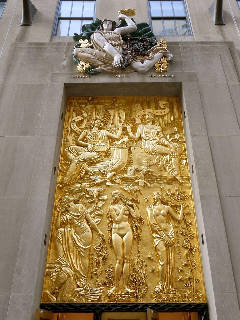 Relief Carving - Rockefeller Center above doorway / art deco / roman ...