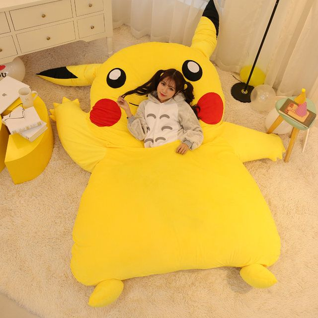 Japan Anime Pikachu Sleeping Bag Pokemon Cartoon Mattress