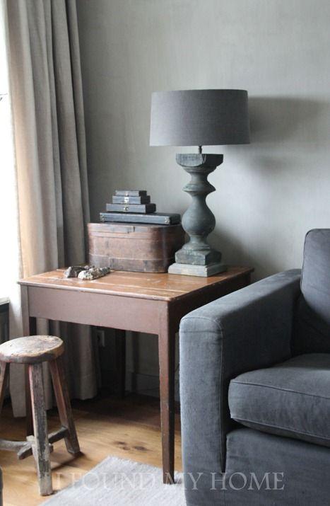 .Mooi stylinghoekje - love the colors - mooie vloer in combi met bank