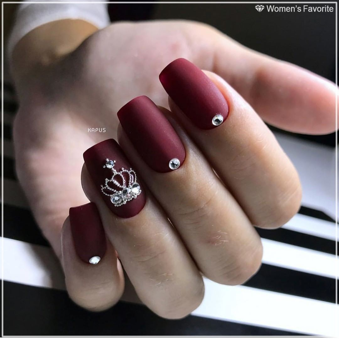 Korolevskij Manikyur Nravitsya Nails Wf Nails Manikyur Bordo