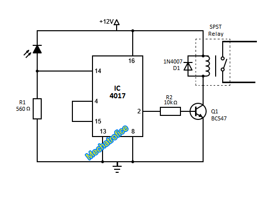 How To Build Ir Receiver Toggle Switch Circuit Diagram