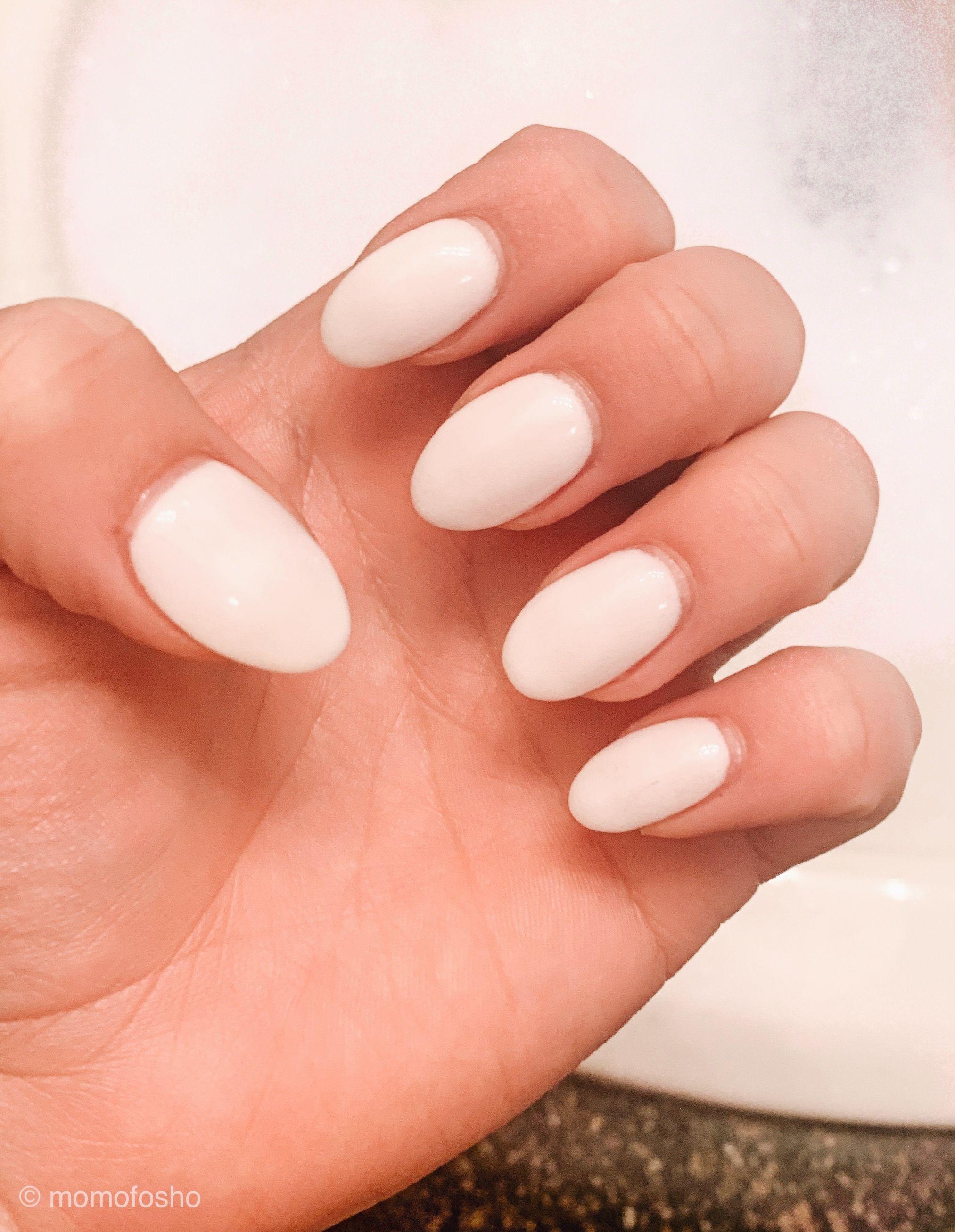 White Almond Shaped Nails Acrylic Nail Shapes Nail Shapes Nails