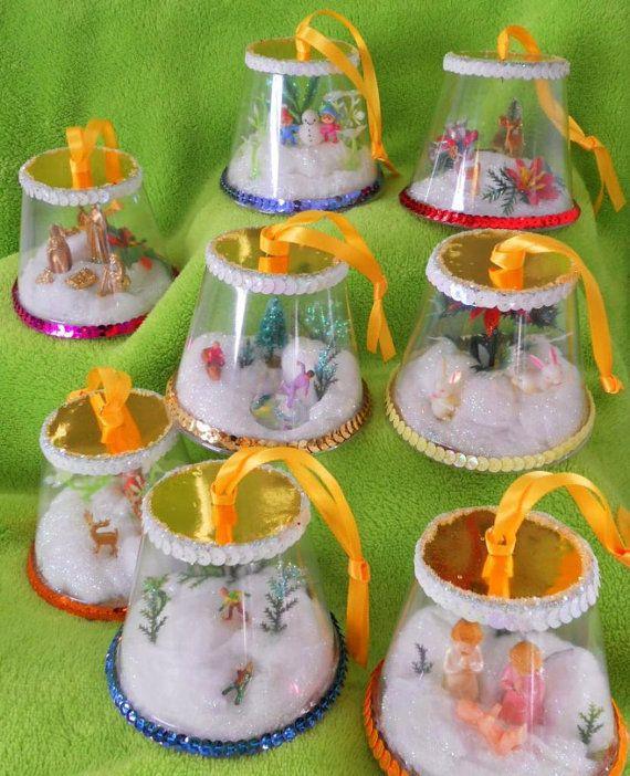 Handmade Diorama Christmas Ornaments #dioramaideas