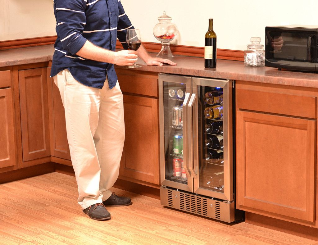 NewAir Dual Zone Wine Cooler and Beverage Cooler AWB360DB