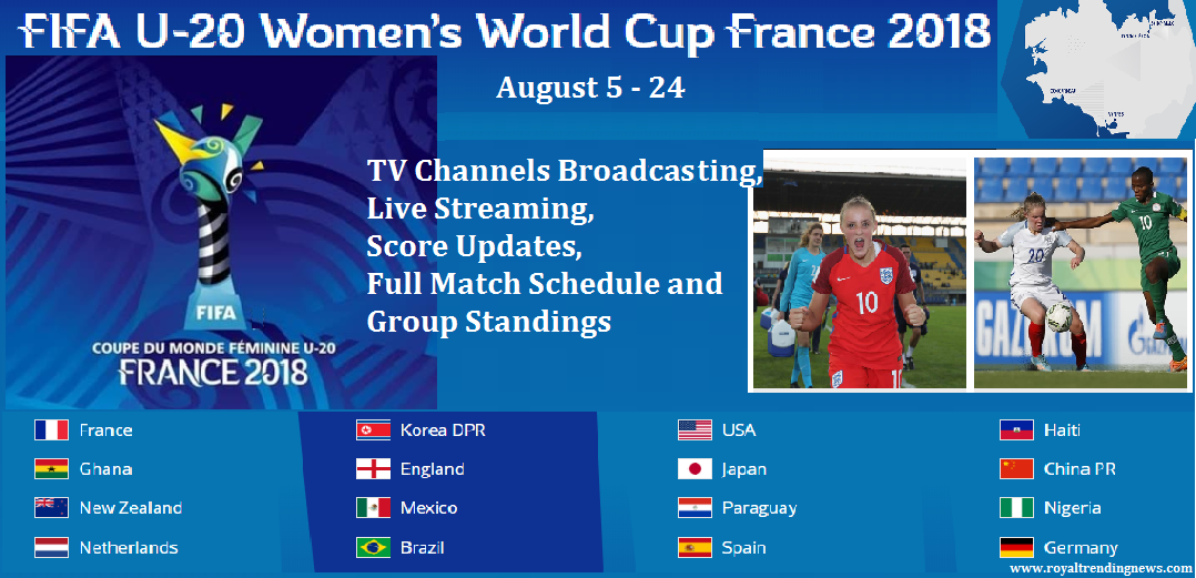 Fifa Under 20 U 20 Womens World Cup France 2018 Tv Channels Broadcasting Live Streaming Full Match Schedule And Group Standings Tv Channels Fifa World Cup