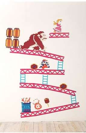 Great Gamer Wall Stickers : Donkey Kong Wall Decals