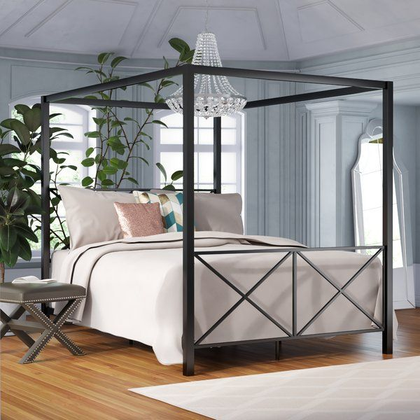 Best Gilma Canopy Bed Queen Canopy Bed Canopy Bed Frame 400 x 300