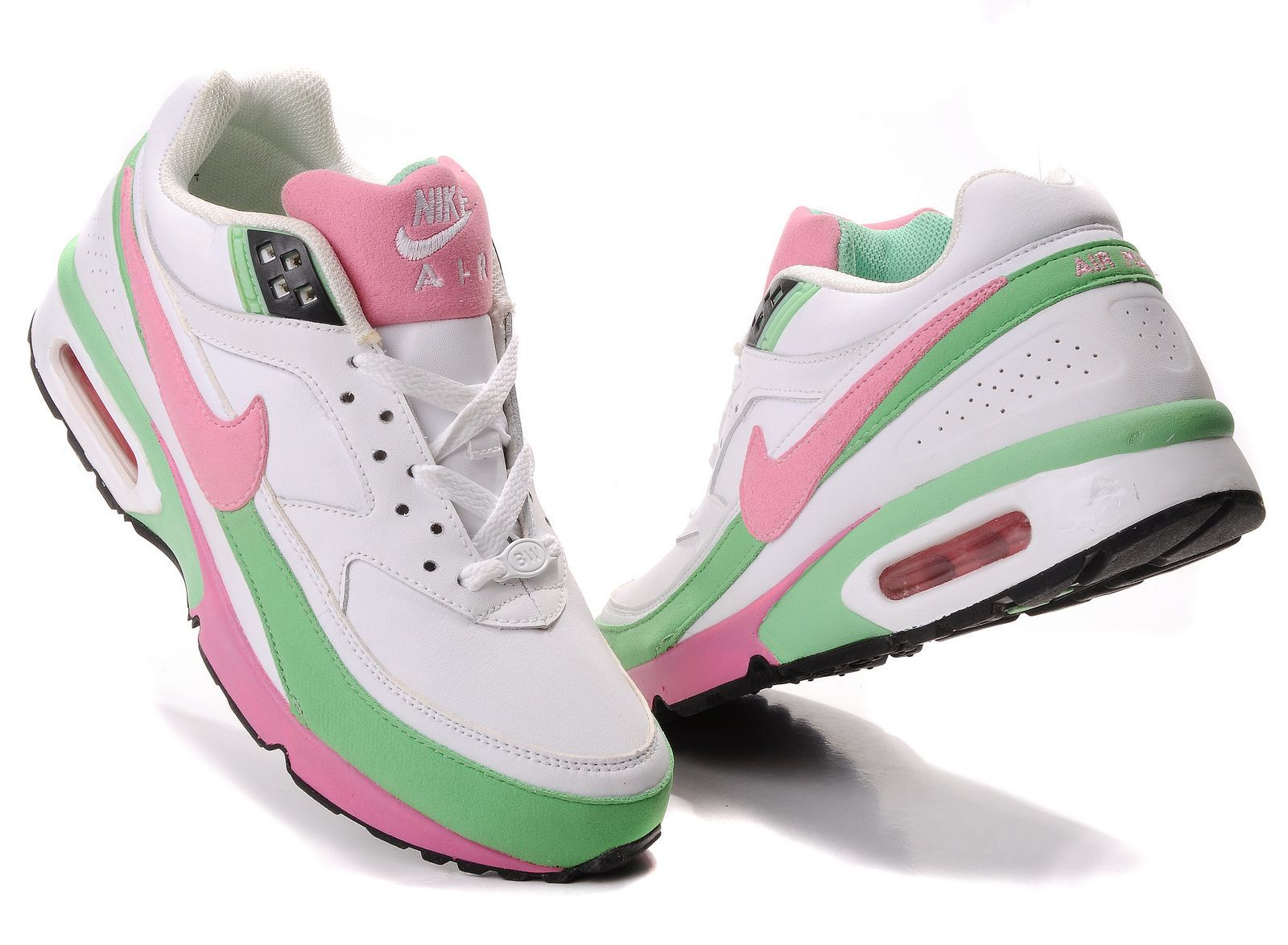 Nike Air Max BW Womens White Pink Green 27d2f1128