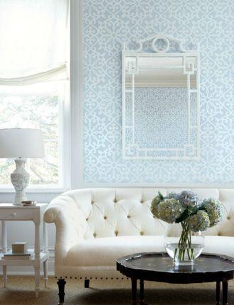 Allison wallpaper from Thibaut Wonderful Walls Pinterest - wohnzimmer tapeten landhausstil