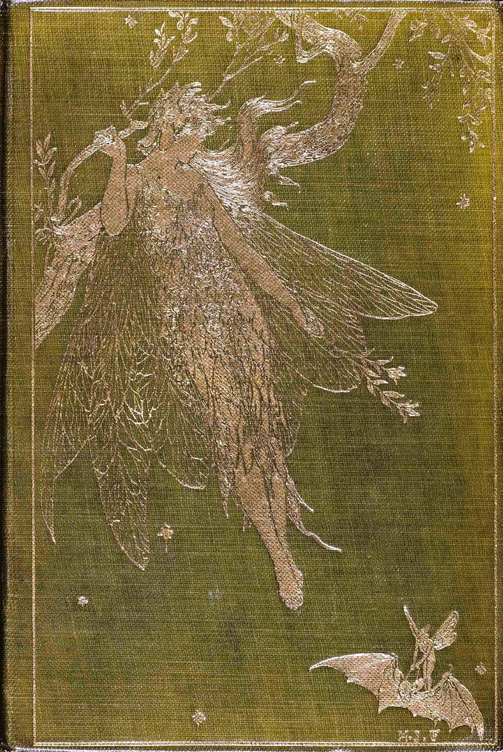 pretty fairy on a book cover\