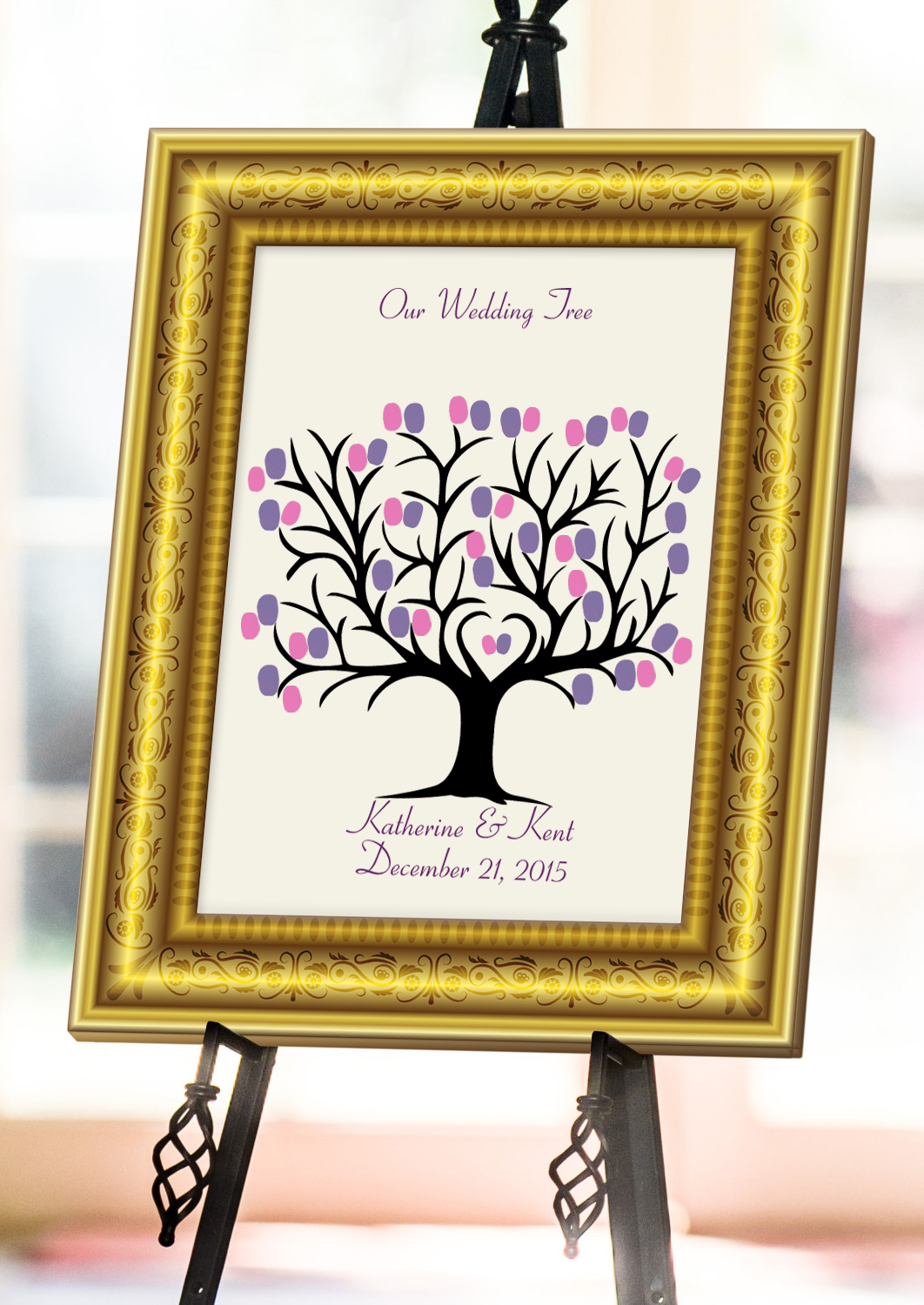 Wedding Fingerprint Tree - GORGEOUS & BEAUTIFUL Fingerprint Trees or Thumbprint Guestbooks  for any event or occasion that can be INSTANTLY created, customized, and downloaded in minutes with Fingerprint Tree Generator.  Create your tree now @ http://fingerprinttreegenerator.com/fingerprint-tree-generator/