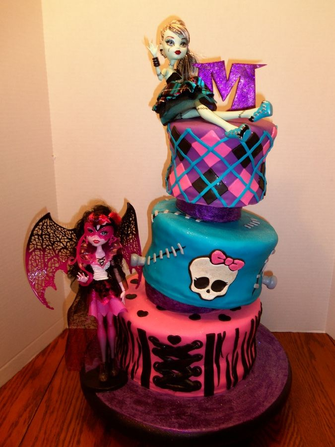 This is a Monster High cake for a 10-year old's birthday. The mother ...