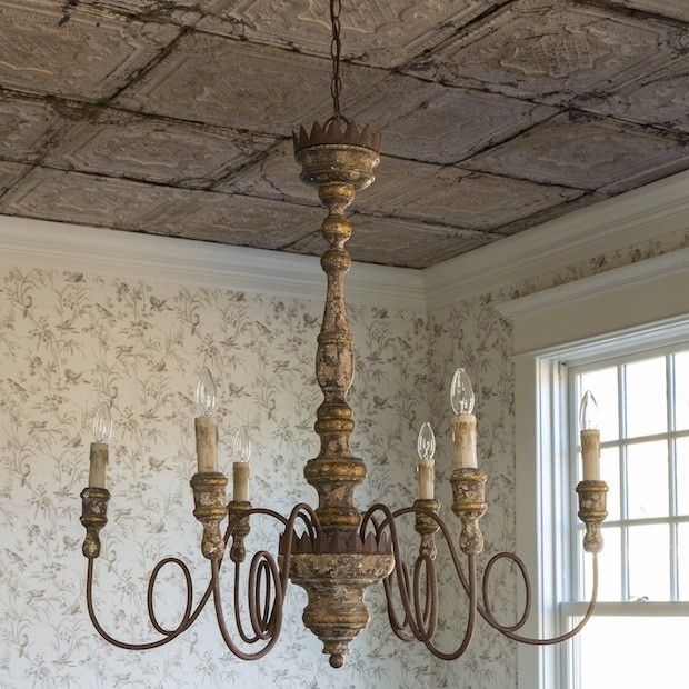 Old World Dining Room Chandeliers: Grand Shabby Chic Charlotte Chandelier