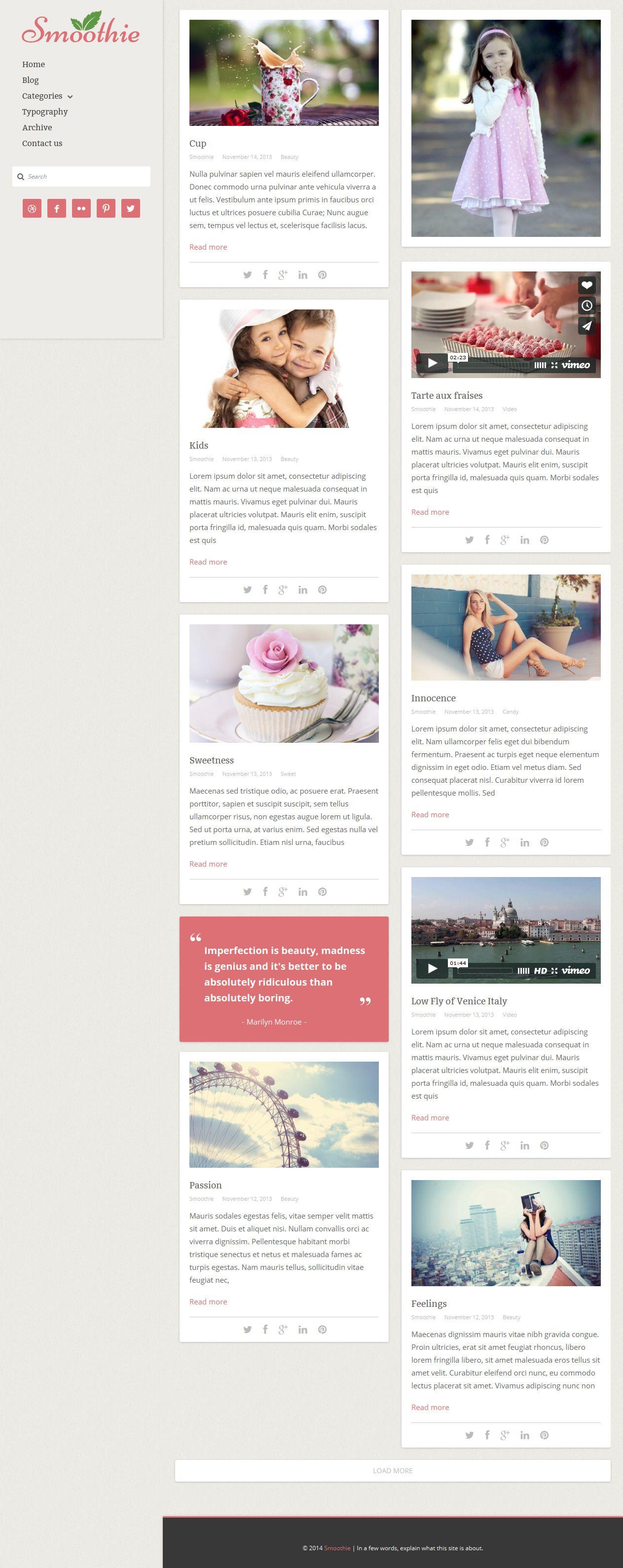 Smoothie from ThemeForest - a cool wordpress theme.   Best Wordpress ...