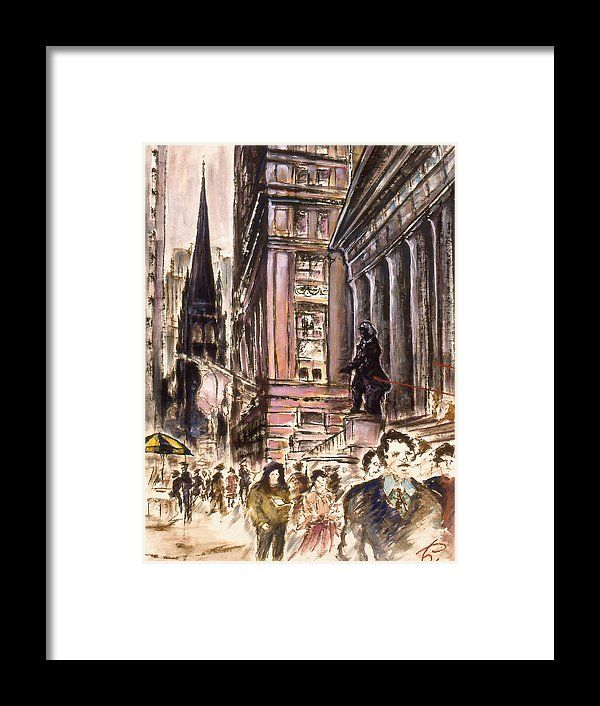 New York Wall Street Fine Art Framed Print