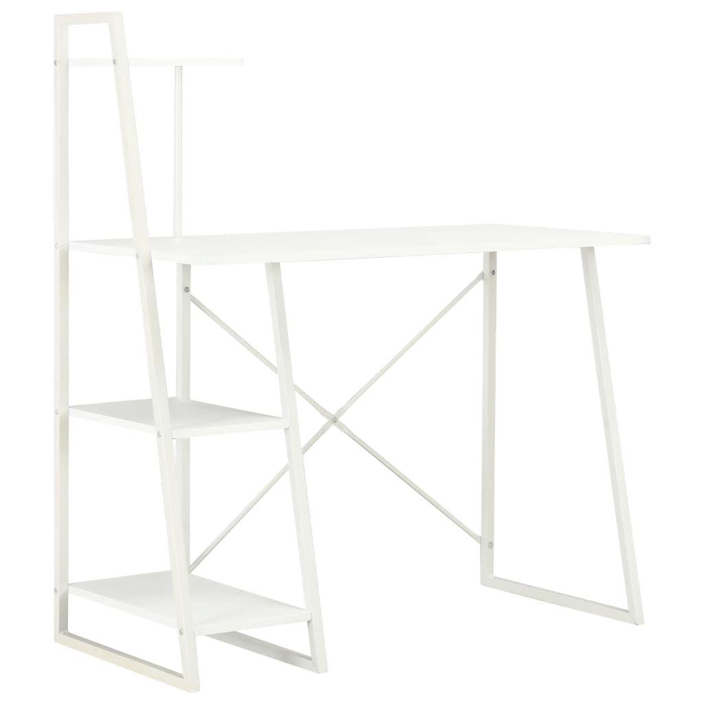 vidaXL Desk with Shelving Unit White 102x50x117 cm 20282