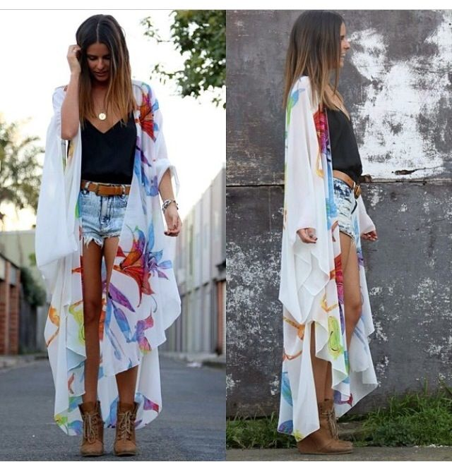floral kimono next DIY project , want one short and one long ...
