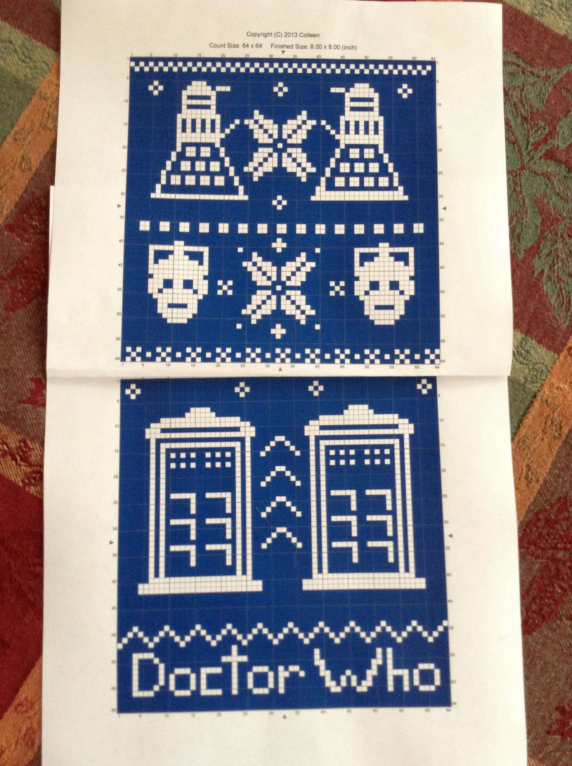 Dr Who fair isle knit pattern! Made with free app StitchSketchLE ...