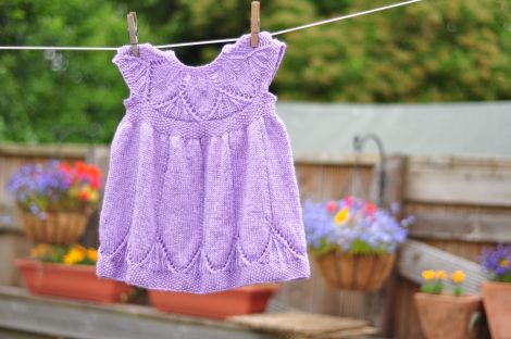 Knitting Patterns For Baby Fancy Dress : Live and learn Knitting baby girl and Baby girl dresses