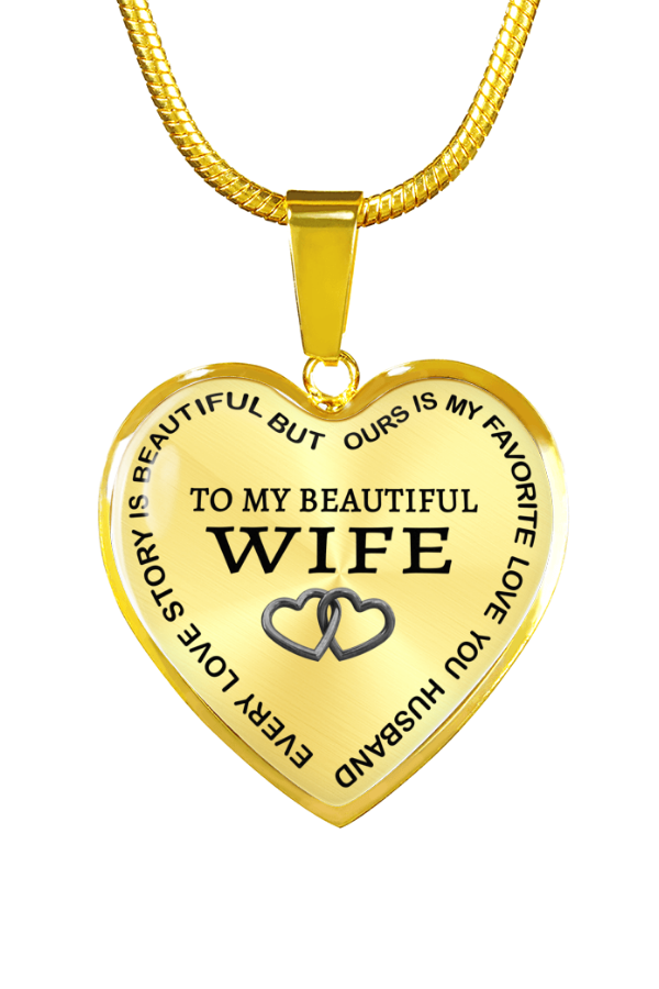 To My Beautiful Wife Favorite Beautiful Husband Luxury Necklace Birthday Anniversary Graduation Gift Gifts For My Wife Anniversary Gifts For Him Gifts For Wife