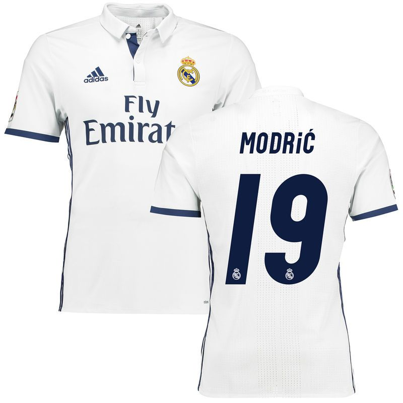 becc1a505 Luka Modric Real Madrid adidas 2016 17 Home Authentic Jersey - White ...