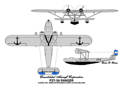 Consolidated P2Y-3A | Scale Models reference, Fuerza Aerea Argentina ...